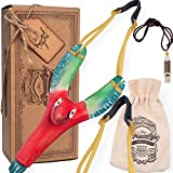 aGreatLife Wooden Bird Slingshot and Eagle Whistle for Kids - with an Extra High Resistance Band, Hunting Slingshot for Catapult Game, Hunting Accessories Kids Would Love to Have