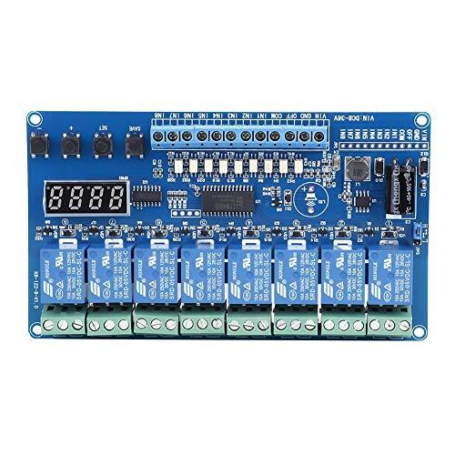 LIMEI-ZEN Placa de circuito de Módulo de relé, 8-36V 8 canales Junta módulo de interfaz de relé multifunción Tiempo de retardo LED del optoacoplador for R3 MEGA 2560 1280 DSP ARM PIC AVR STM32 frambue