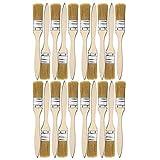 20pcs Brochas, 25mm (1') Pinceles de Madera con Mango Pincel de cerdas para Pintar Paredes y Muebles, Perfecto para Paredes y Pintar Madera, Tinturas, Pegamentos y Gesso