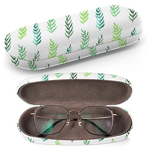 Hardcase Brillenetui Sonnenbrillenetui Brillenbox Kunststof Clamshell-Art-Brillen-Fall mit Brille-Reinigungstuch Pink Watercolor Flowers On Light