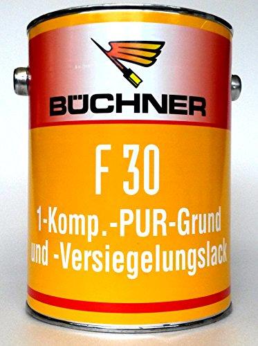 Büchner F30 1Komp.-PUR-basis en -verzegelingslak, 2,5 l - voor grondverf, versteviging en impregneren van minerale ondergronden, wand- en vloeroppervlakken van beton en cementestreek, in hallen, garages, bedrijven met mechanische belasting