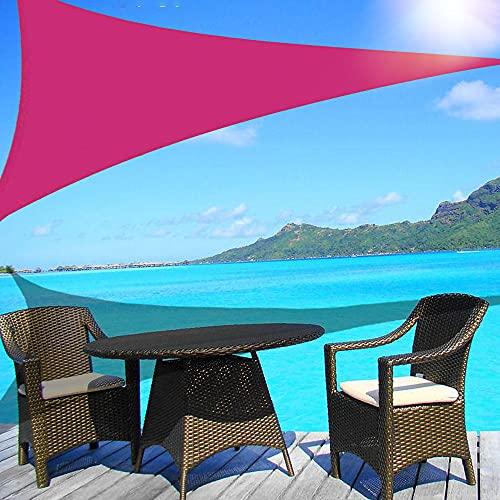 Wsaman 2mx2mx2m Dreieckig Sonnensegel Wasserabweisend, mit 95% UV-Verstopfung, Sonnensegel Dreieckig mit Spannseilen, für Terrasse, Balkon,Magenta