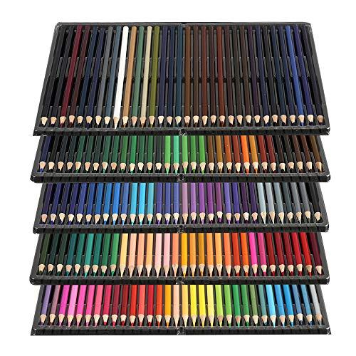 Windyeu Buntstifte Farbstifte Set Profi Angespitzt für Zeichnen Skizzieren Zeichenstifte mit 160 Farben für Kinder Erwachsene