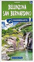 Bellinzona - San Bernardino 45 Wanderkarte 1:40 000 matt laminiert