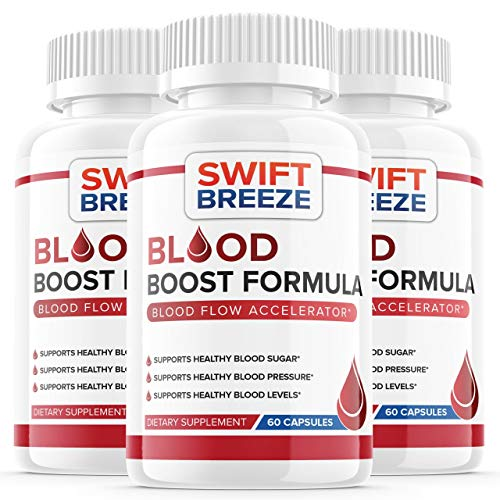 (3 Pack) Blood Boost Formula Pill Supplement, Blood Boost Formula for Diabetes Capsules - Blood Sugar Support for High Blood Pressure Diabetes - Natural Nutrition (180 Capsules)