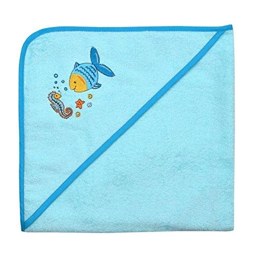 Mauz by wörner bébé poisson mint «bavoirs, serviettes de bain et gant de bain poncho, Vert menthe, Kapuzenbadetuch 100x100cm