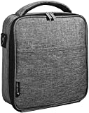 Upper Order Durable Insulated Lunch Box Tote Reusable Cooler Bag (Grey)