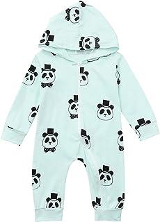 الرضع طفلة صبي طفل مقنع رومبير بذلة الكرتون الباندا زيبر الملابس (Color : Green, Size : 0-6 Months)