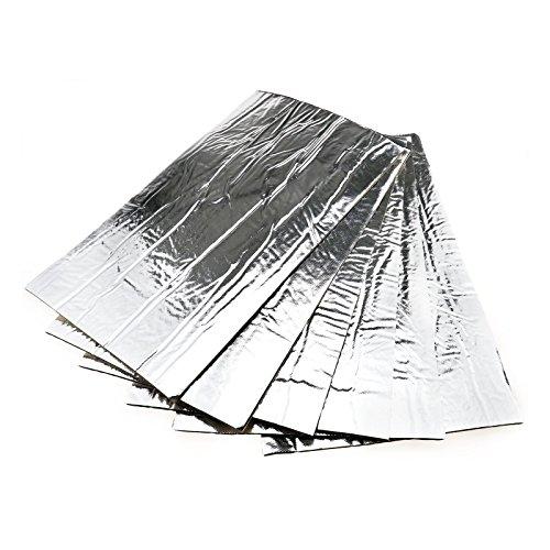 6 Stück 50x30cm Auspuff Krümmer selbstklebend Hitzeschutzmatte Hitzeschutzfolie