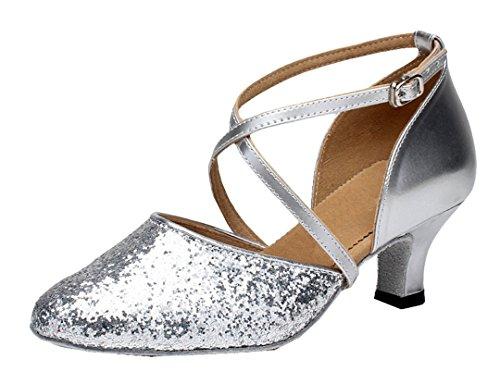 MGM-Joymod ,  Damen Jazz & Modern, Silber - Style1 Silver/5cm Heel - Größe: 40