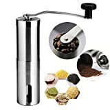 Suyi Stainless Steel Manual Coffee Bean Grinder Mill Conical Burr Mill for Precision Brewing
