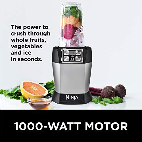 Ninja BL481C Nutri-Ninja Auto-iQ Blender, Silver