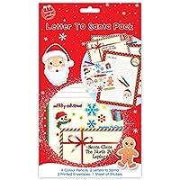 Carta a Papá Noel Pack–contiene 4lápices de colores, 2cartas a Papá Noel, 2sobres estampados, 1Lámina de pegatinas.