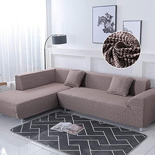 WXQY Fundas elásticas Funda de sofá elástica Funda de sofá de protección para Mascotas Funda de sofá Antideslizante en Forma de L Funda de sofá Antideslizante A4 1 Plaza