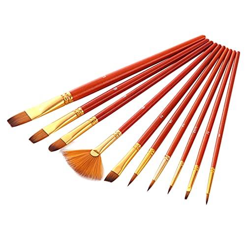 Set di 10 pennelli Set di pennelli per artisti