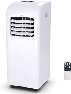 COSTWAY 10000 BTU Portable Air Conditioner with Remote Control Dehumidifier Function Window Wall Mount (10,000 BTU)