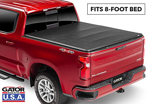 Gator ETX Soft Tri-Fold Truck Bed Tonneau Cover | 59103 | fits Chevy/GMC Silverado/Sierra 2007-13 (8 ft bed) without rail system