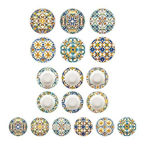 Brandani 53705 Tavola 18 Pz Medicea New Bone China d 27/22/19,5 cm