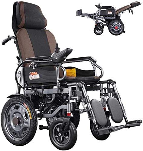 Silla de ruedas eléctrica de lujo plegable motorizada con respaldo reclinable Potente motor doble para discapacitados personas mayores