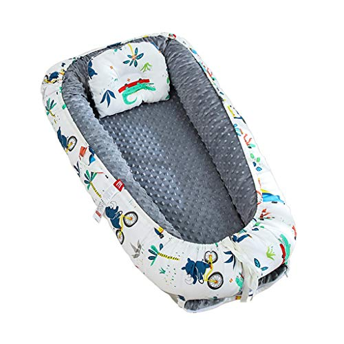 Nai-storage Lit Double Face néonatale, catégorie Enfants Disponibles Hôpital Early Education Portable Lounge Chaise bébé - Nouvel an du Nourrisson Cadeau (Color : A, Size : 0-2 Year Old Baby)
