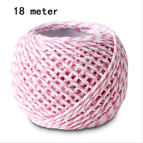 Geschenkdoos BLTLYX 10st Geschenkdoos Drageespillow Vorm Verjaardagsverpakking Feestdozen Zoet Gunst Kussenslopen Snoepkoekje 14 * 7cm 1 rol-roze-touw