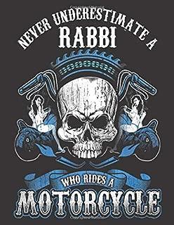 2020 Motorcycle Calendar and Planner For Bikers: Jewish Rabbi Biker Never Underestimate Motorcycle | December 2019 - December 2020 | 8.5 X 11