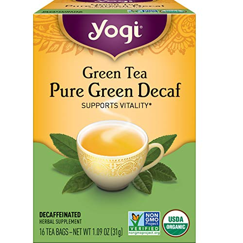 Yogi Tea - Green Tea Pure Green Decaf (6 Pack) - Supports Vitality - 96 Tea Bags