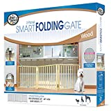 Four Paws 3 Panel Free Standing Walk Over Wooden Dog Gate, 24'-68' W by 17' H