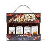 Modern Gourmet Foods, Siropes para el Café con Temática Otoñal, Incluye los Sabores Pan de Jengibre, Caramelo Salado, Menta y Calabaza Picante, Pack de 4