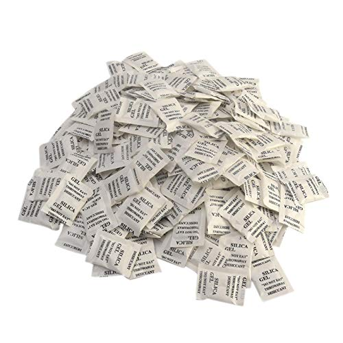 YIAI Silica Gel Trockenmittel Packungen Packung, 200 Stück Silica Gel Trockenmittel Absorb Feuchtigkeit Mehrzweck-Trocknungsmittel Taschen für Schranksafes Badezimmer Lebensmittelqualität