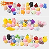 SYYISA Mochi Squishy Toys 32 Pcs Cute Mini Squishy Animal Squishies for Kids, Like Cat Panda Unicorn Seal Bear Fox Rabbit Miniature Novelty Toys Squishy Stress Relief Toys for Adults Birthday, Random