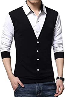 Try This Men's Cotton Shirt Style Full Sleeve Tshirt