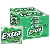 EXTRA Spearmint Sugarfree Chewing Gum, 15 Count (Pack of 10) Pieces