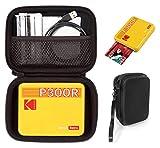 CaseSack Case for Kodak Mini 3 Retro Portable Photo Printer, Kodak Mini Shot 3 Retro 2-in-1, Zink Kodak Step Printer, All-New Mini 3 Square, mesh Accessories Pocket, Detachable Wrist Strap (Black)