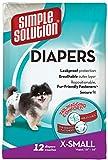 Simple Solution Pannolini Monouso per Cani Femmina x Small - 12Pk