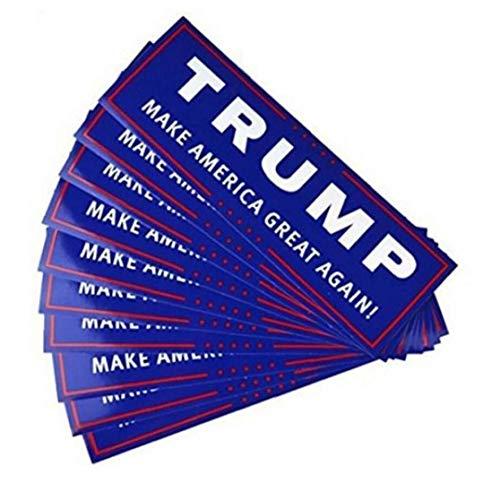 10pcs Wahl-autoaufkleber Trump 2020 Aufkleber Reflektierende Auto-LKW-autoaufkleber President Unterstützung Aufkleber