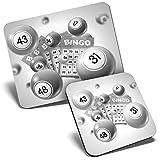 BW - Alfombrilla de ratón y posavasos, juego de bingo Gran Auntie 23,5 x 19,6 cm y 9 x 9 cm para ordenador y portátil, oficina, regalo, base antideslizante #38071