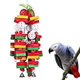 """PERFECT SIZE FOR LARGE& MEDIUM PARROT - Kintor bird chewing toy measures 22"""" with colorful wood block, Suggested for Macaws cokatoos,african grey and a variety of amazon parrots MADE WITH 100% PET SAFE MATERIALS - Kintor bird toys is made of food gra..."""