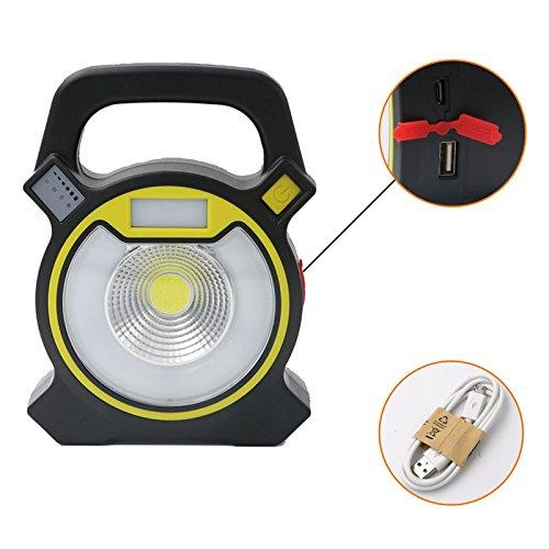Jiguoor haute puissance Portable lampe torche COB LED USB rechargeable Lanterne de camping 4 modes d'éclairage 18650 extérieur Mobile Power Bank lampe de travail