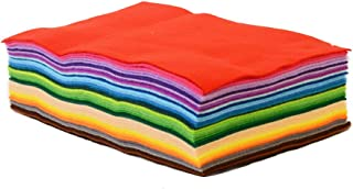 Onepine 15pcs 7.9x11.8 inch(20x30 cm)Craft Felt Fabric Sheets Patchwork Sewing DIY Craft Squares Nonwoven 1mm Thick Assorted Colors (7.9x11.8 inch (20x30 cm))