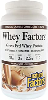 Natural Factors Whey Factors Grass Fed Whey Protein Natural Double Chocolate - 907 g
