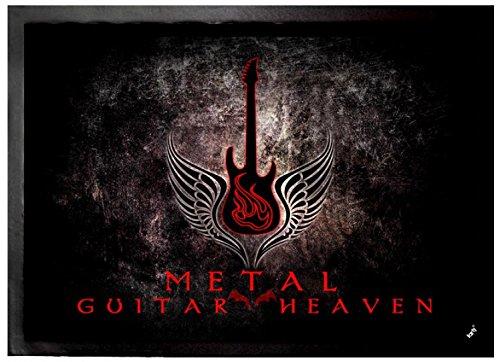 1art1 Guitarras - Guitar Heaven, Metal Felpudo Alfombra (70 x 50cm)