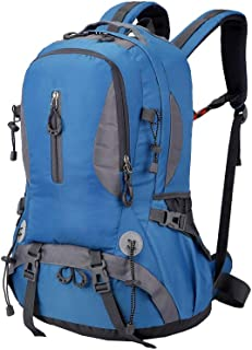 Mountaineering Backpack Trekking Bag Outdoor Sports Daypack 40L Waterproof for Camping Fishing Backpacking Hiking Climbing Hunting Traveling Blue
