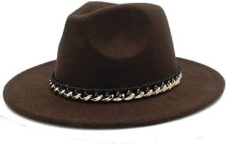 SHENTIANWEI Men Women Authentic Winter Fedora Hat Adult Hat Pop Wide Brim Jazz Hat Casual Wild Church Fascinator Hat Size 56-58CM