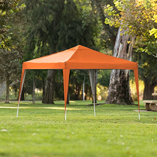Best Choice Products Outdoor Portable Adjustable Instant Pop Up Gazebo Canopy Tent w/Carrying Bag, 10x10ft - Orange