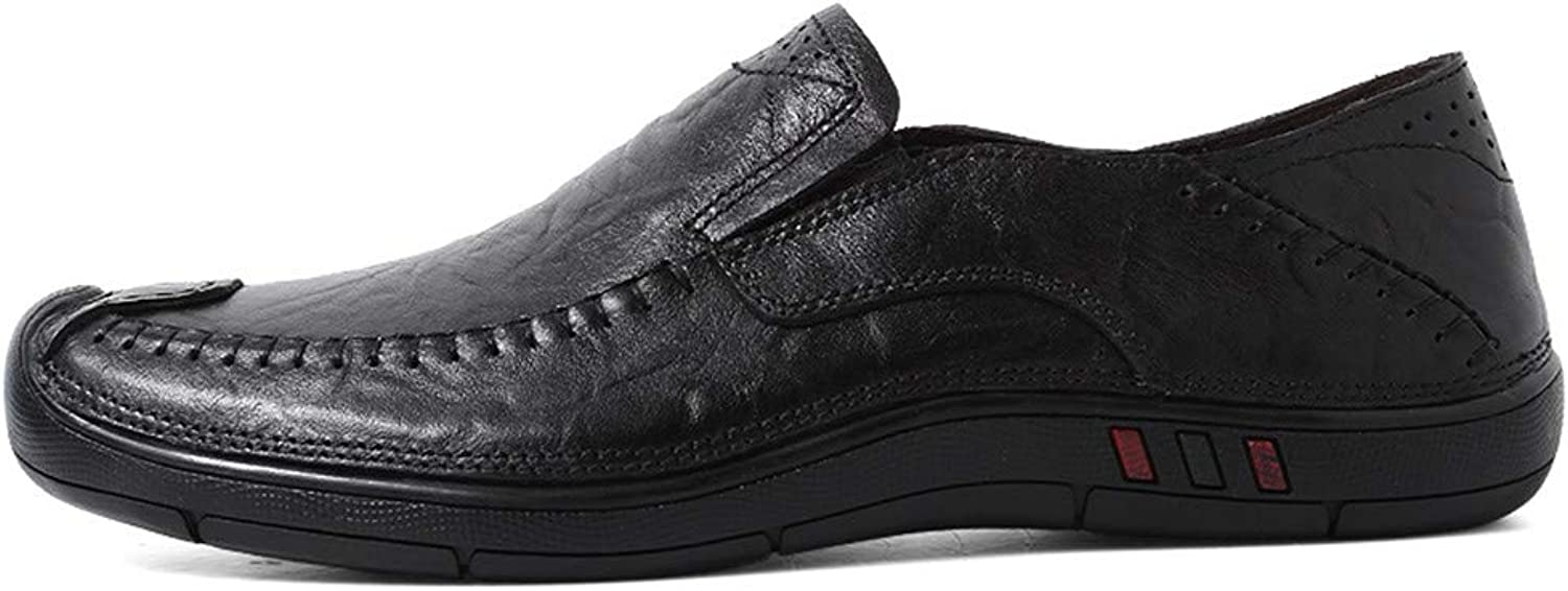 Xujw-shoes, 2018 new Men's Casual Four Seasons Set Foot Size Comfortable Wear-resistant Boat Moccasins(Hollow optional) Driving Loafers (color   Black, Size   8.5 UK)