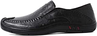 Men's Driving Loafers Fooling Quaternary Seasons Set Foot Size Comfortable Wear-resistant Boat Moccasins(Hollow optional) casual shoes (Color : Black, Size : 45 EU)