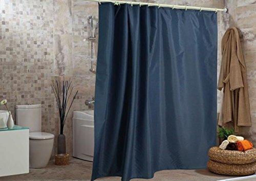 wohnideenshop Duschvorhang Uni blau 120cm breit x 200cm lang Textil inkl. Ringe