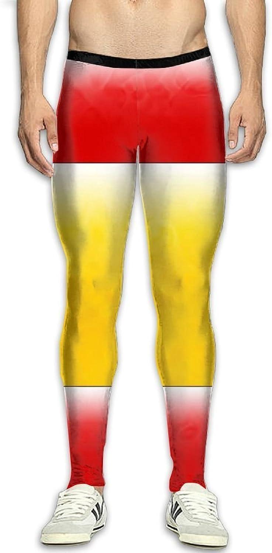 Men's Compression Leggings Basic Workout American Flag Pants Baselayer Running Tights 3D Print High Waist Sports Legging