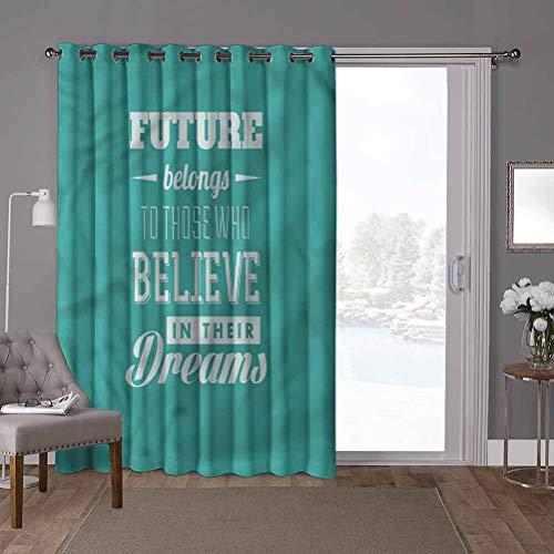 YUAZHOQI Panel de cortina de puerta corredera de bajo consumo, motivacional, consejo hipster, 100 x 284 pulgadas de ancho persianas verticales para puerta de honda (1 panel)